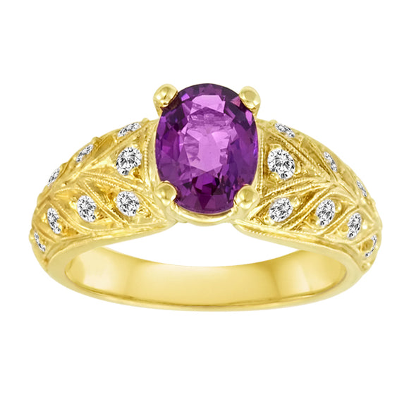 Gemstone Ring 9015 OV PRS 18KY