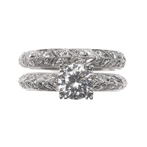 Bridal Ring 9024A SET PLT