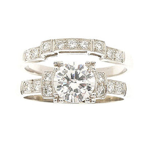 Bridal Ring 9037B Set 18KW