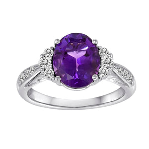 Gemstone Ring 9046NE OV AM 18KW