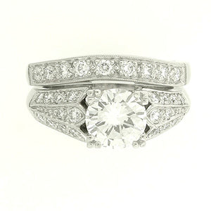 Bridal Ring 9070A Set PLT