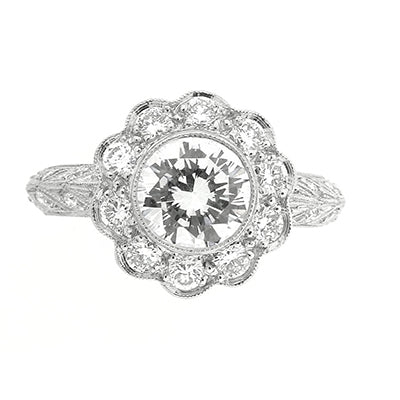 Diamond Ring 9085 D PLT
