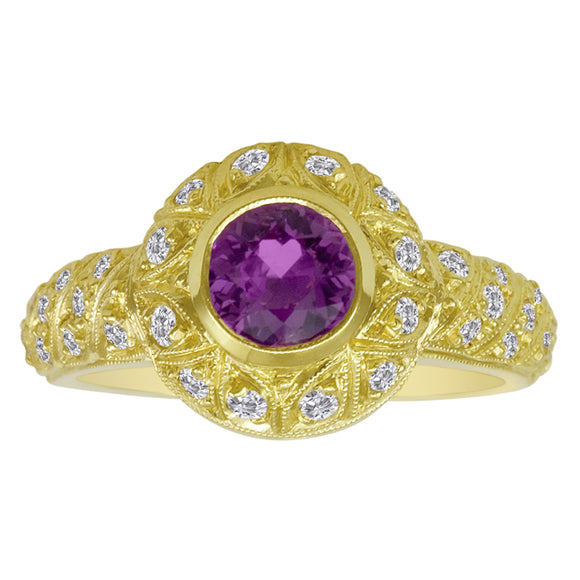 Gemstone Ring 9092 PKS 18KY
