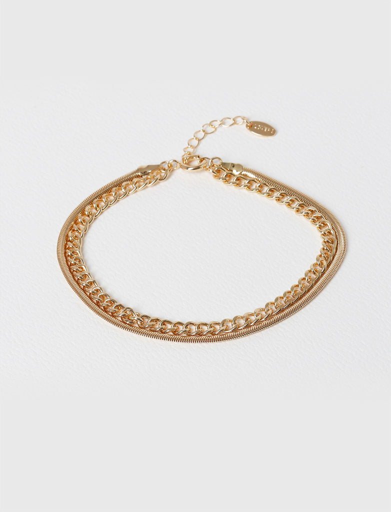GOLD CHAIN ANKLET MULTIPACK