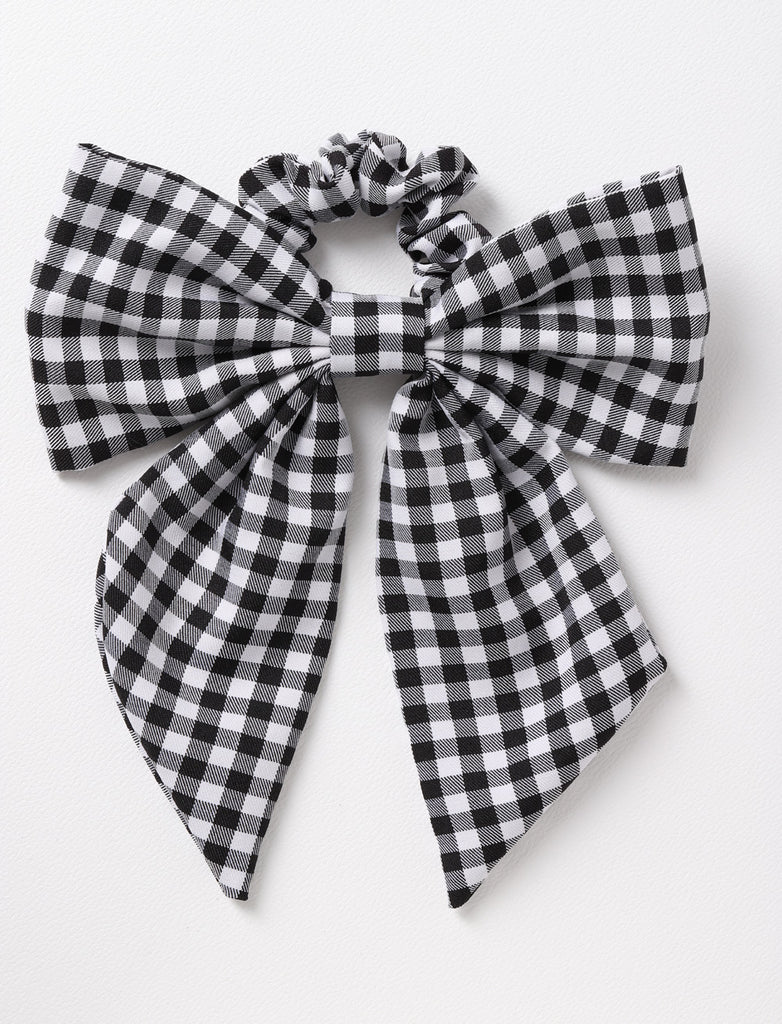 GINGHAM BOW SCRUNCHIE