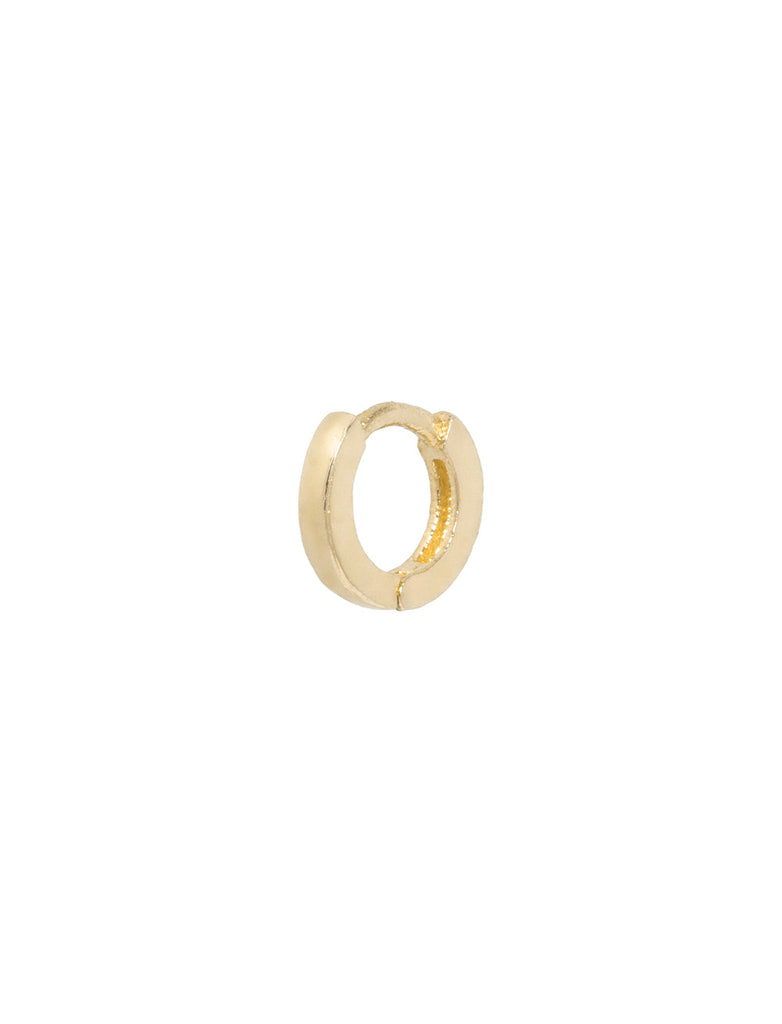 Square Edge Gold Ear Piercing Hoop