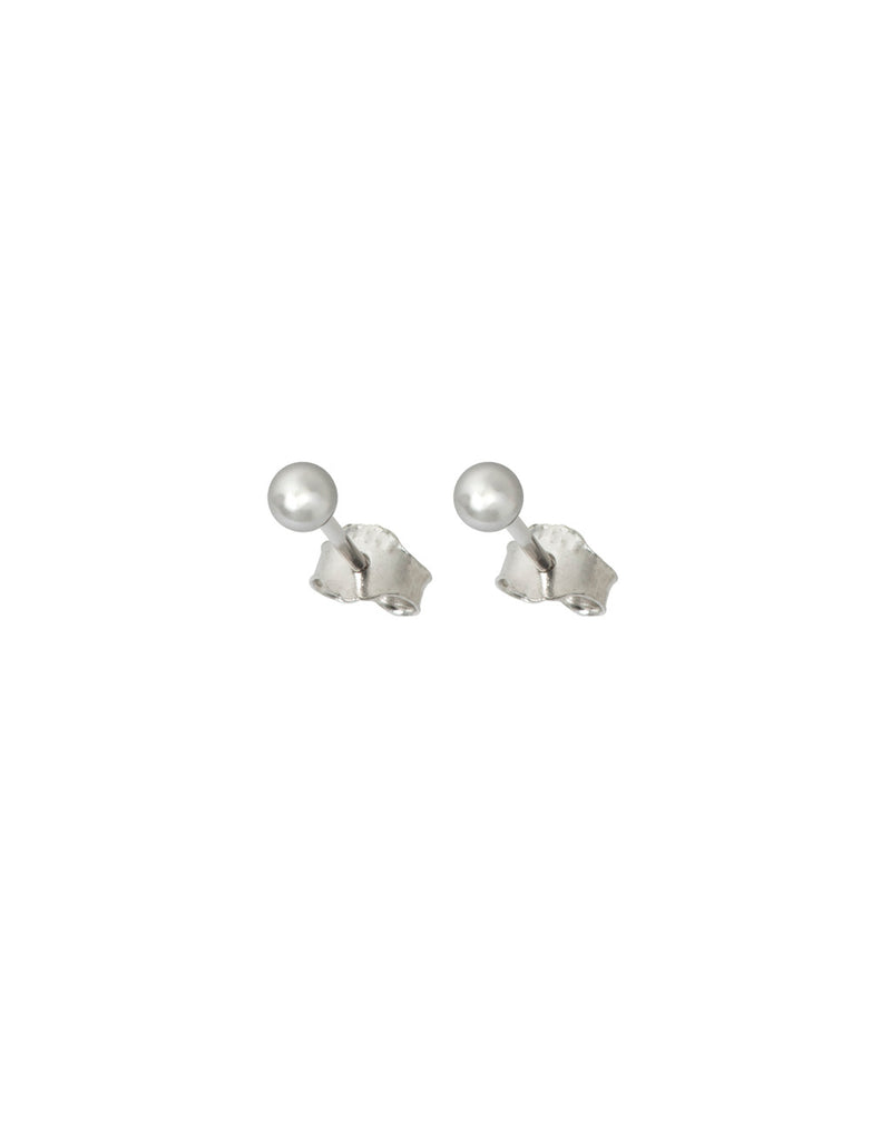 14K Gold Silver Plated Ball Ear Studs