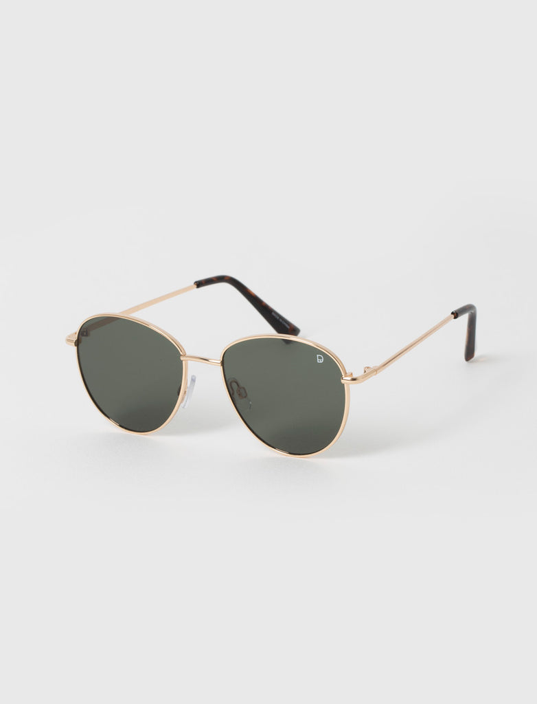 Wayfarer Black & Gold Metal Sunglasses
