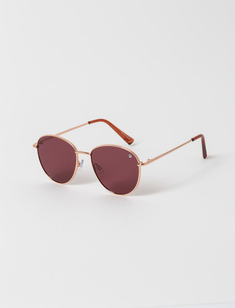 Wayfarer Rose Gold Metal Sunglasses