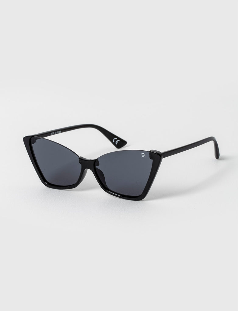 Cateye Sunglasses With Cutout Frame