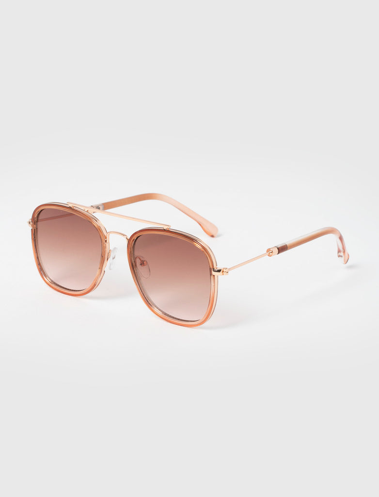 GRADIENT AVIATOR ROSE GOLD SUNGLASSES