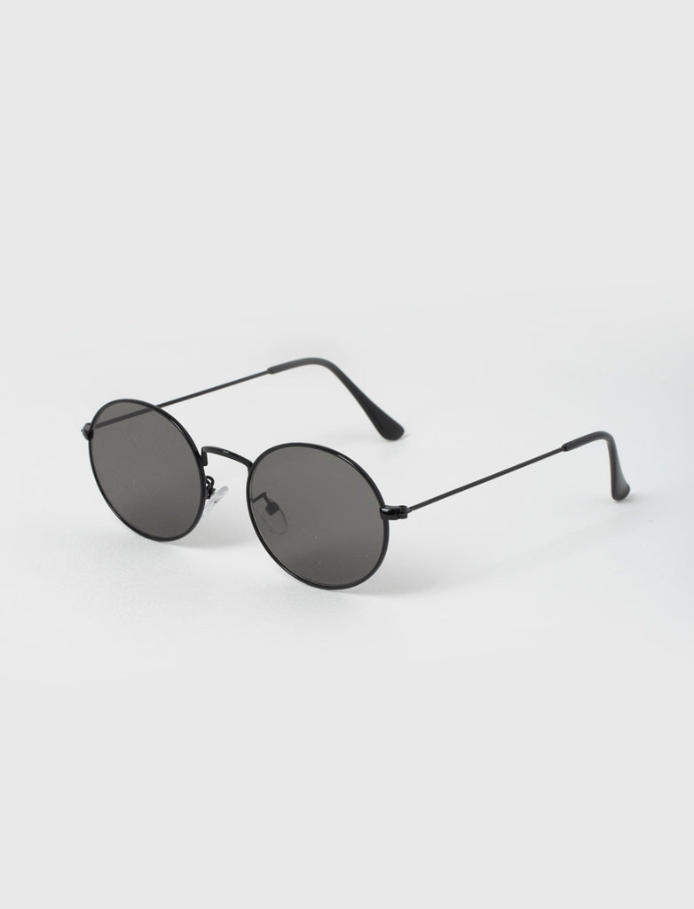 ROUND BLACK METAL SUNGLASSES