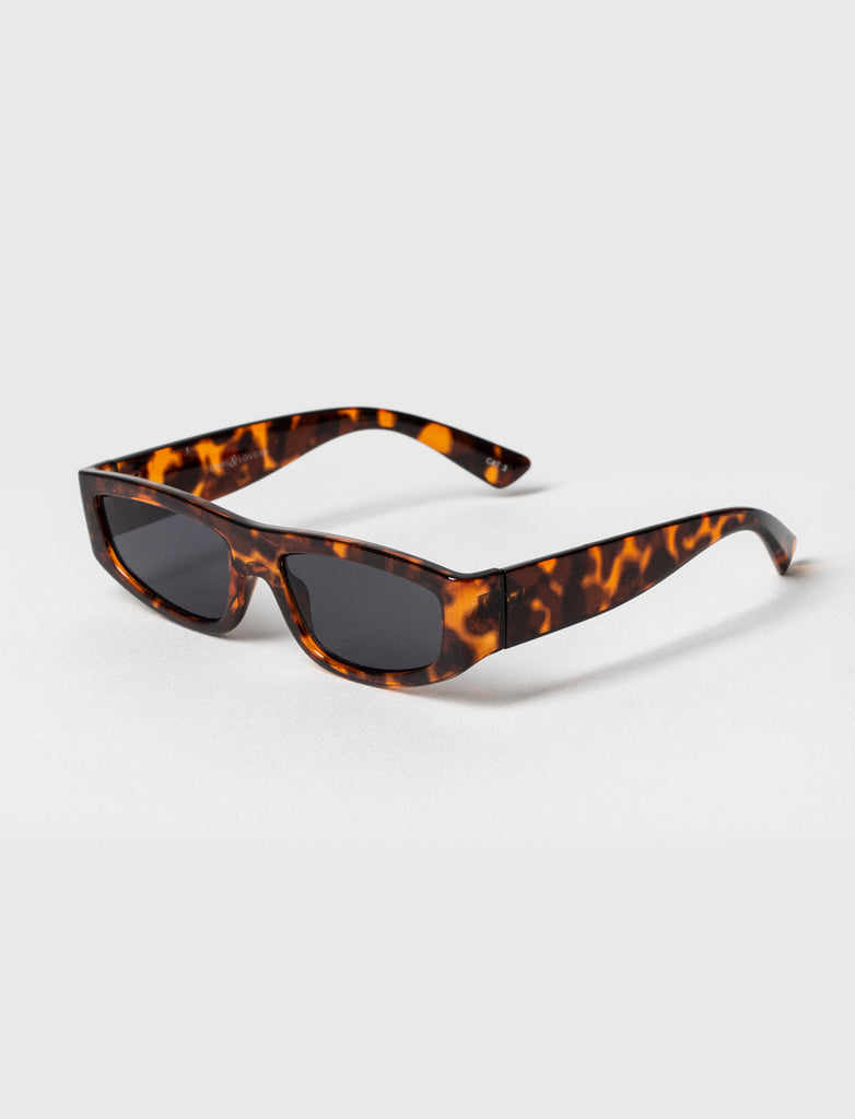 Flat Oval Brown Tortoise Sunglasses