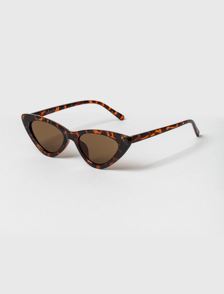 Pale Tortoise Cat Eye Sunglasses