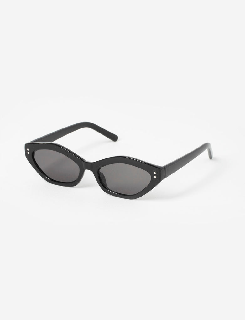 Black Oval Cat Eye Sunglasses