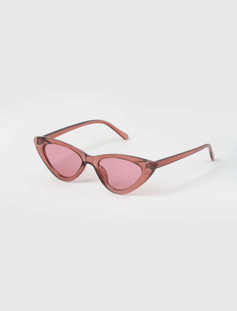 CAT EYE PINK SUNGLASSES