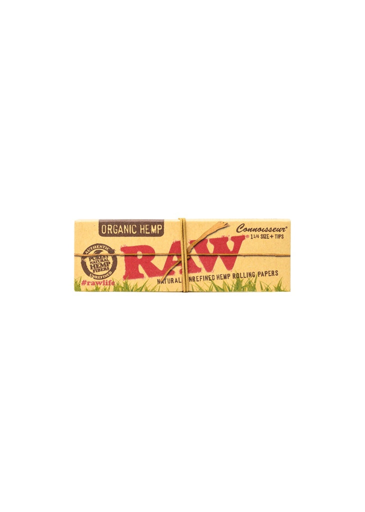 "RAW Organic Hemp 1 1/4"" Papers with Tips"