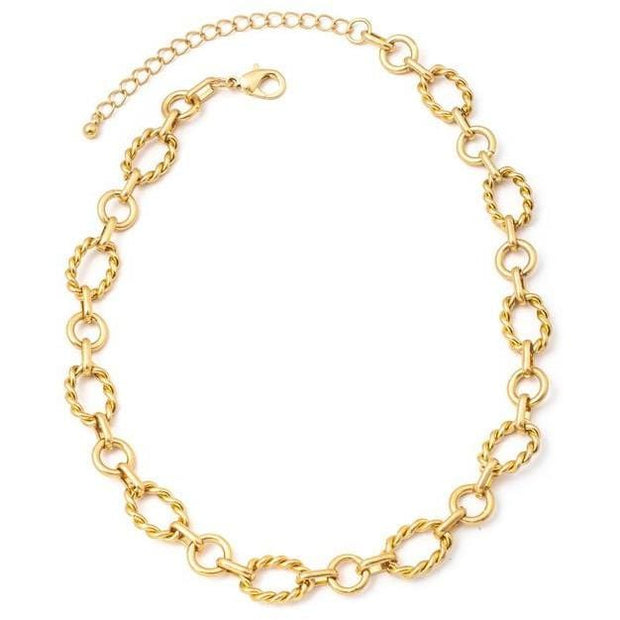 Mixed oval chain link necklace