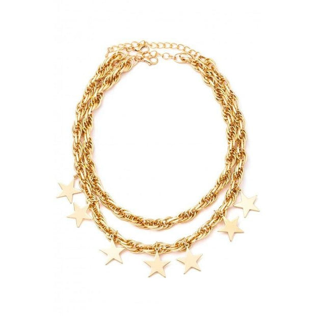 Multi Star charms layered necklace