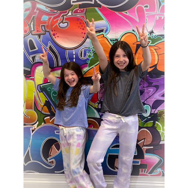 Kids Unicorn Stripe Tie-Dye Sweatpants