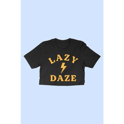 Lazy Daze graphic Cropped vintage tee