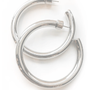 Tube hoop earrings with custom earring back