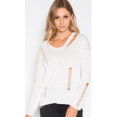 Distressed Spring/Summer Sweater
