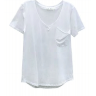 Cotton tee with pocket (2 Colors)