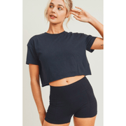 The perfect cropped soft tee (two colors available)