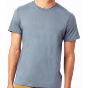 Men's Organic Cotton Crew T-Shirt (earth grey and earth ocean)