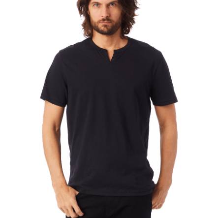 Men's Moroccan Organic Cotton T-Shirt (Black and earth ocean)