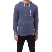 Men's Burnout French Terry Hoodie - Nickel and Navy