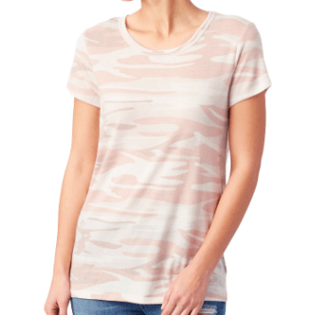Camo super soft tee in blush