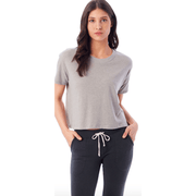 Vintage Jersey Cropped T-Shirt in smoke grey