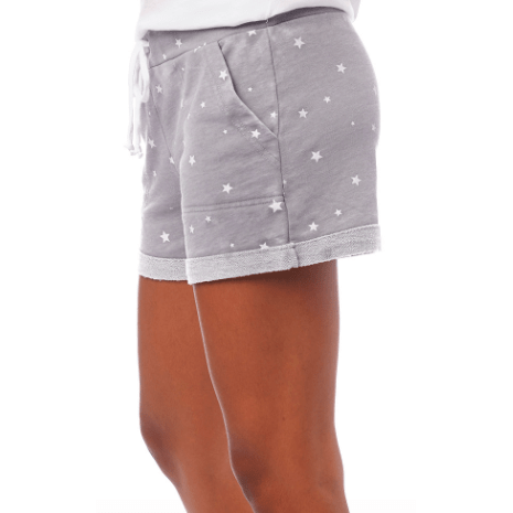 Pebble grey star lounge shorts