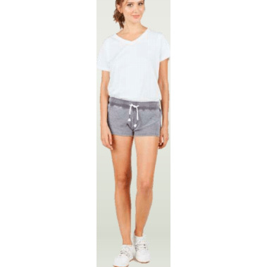 Grey reverse terry short