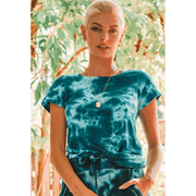 Blue mixed soft tie dye vintage tee