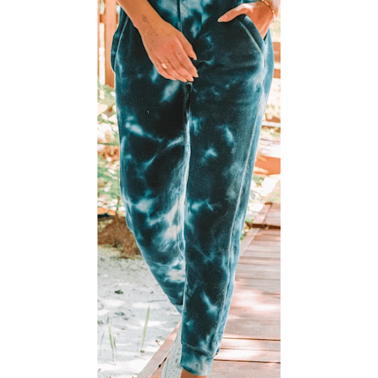 Blue/black/navy tie dye jogger