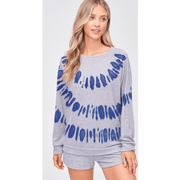 Grey/Blue Tie dye loungewear set