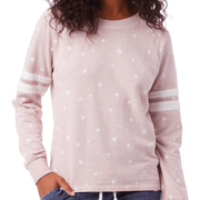 Rose Quartz star burnout sweatshirt