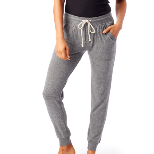 Super soft jersey joggers in eco grey