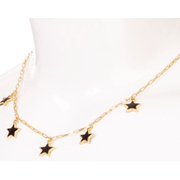 Star necklace - black and white available