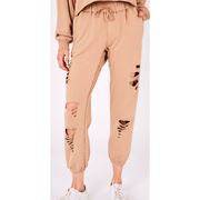 Distressed/cut sweatpants - multiple colors available (PRE ORDER-expected date 10/10)