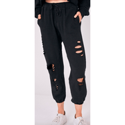 Distressed/cut sweatpants - multiple colors available