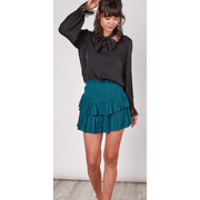 Smocking woven skirt multiple colors