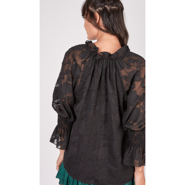 Floral blouse with metallic detail