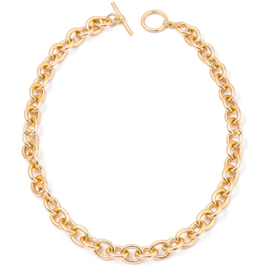 Circle hoop chain link necklace