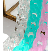Acrylic chunky chain link colored eye glass holder