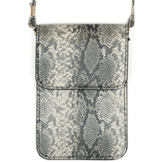 Snakeskin cellphone crossbody case with clear window