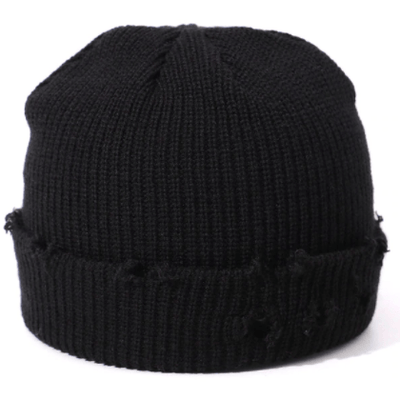 Distressed winter beanie hat (multiple colors available)